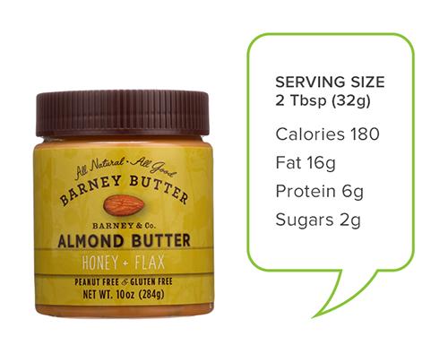 almond butter honey + flax